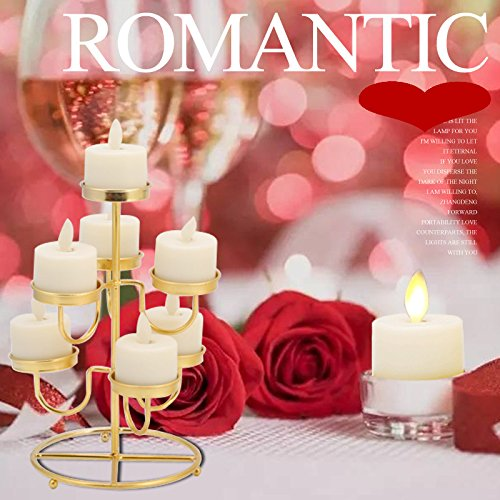 LED Tea Light Candles,Battery Operated Warm White Flameless Window Pillar Candle Bluk With Dancing Flickering Bulb For Christmas/Wedding/Birthday Party-Pack Of 6 by Burning Sister (Image #3)