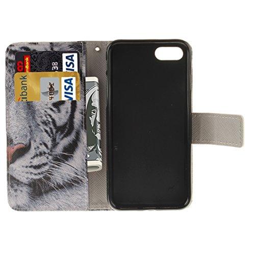 Mobile protection Para el iPhone 7 Patrón de búho interesante TPU magnética de adsorción Horizontal Flip caja de cuero con titular y ranuras para tarjetas y cartera, pequeña cantidad recomendada antes IP7G1110C