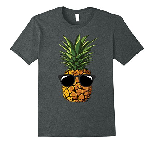 Mens Pineapple Sunglasses Aloha Beaches Hawaii - Hawaiian T-shirt XL Dark - Aloha Sunglasses