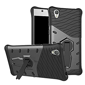 Sony Xperia L1 Case SunRemex Durable Armor with Full Body Protective and Heavy Duty Protection and 360 Degree Rotating Kickstand Design for Sony Xperia L1(2017)