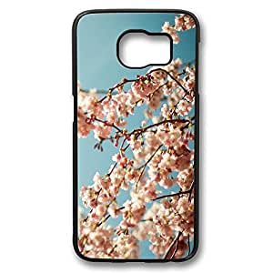Brian114 Samsung Galaxy S6 Case, S6 Case - Perfect Fit Black Hard Back Case Cover for Samsung Galaxy S6 Blossom Tree 2 Edge Case Impact Protection for Samsung Galaxy S6