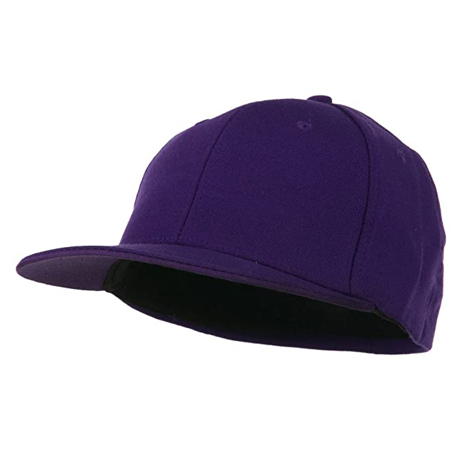 21d20b36fa0 DECKY Flat Bill Fitted Flex Cap - Purple OSFM at Amazon Men s ...