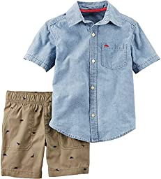 Carter\'s Baby Boys 2 Pc Playwear Sets 229g424, Denim, 12 Months Baby