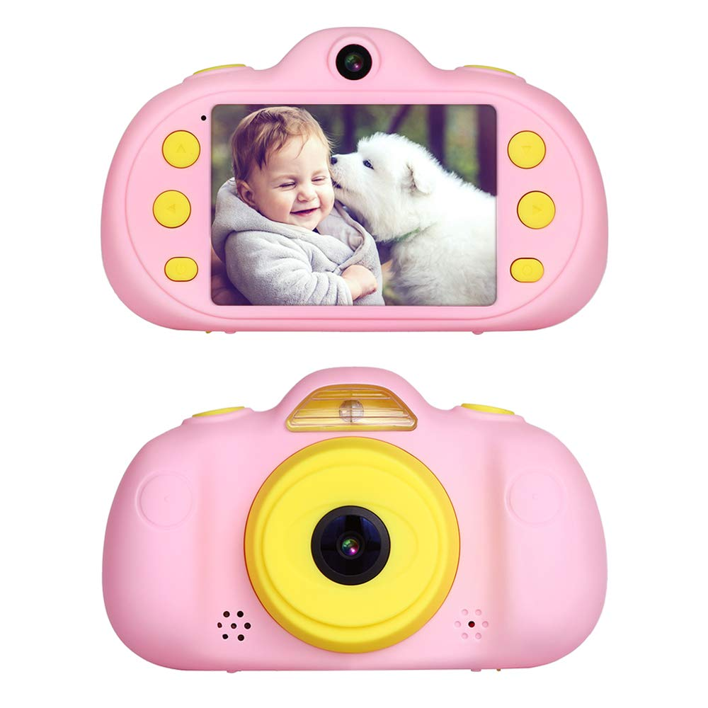 Kids Camera Toy Gift for 3-9 Year Old,BIUBLE 2.4'' HD 1080P Child Digital Camcorder Soft Silicone Shell Shockproof Multifunction Rechargeable Video Camera with Puzzle Game MP3 by BIUBLE (Image #1)