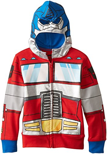 Transformers Little Boys' Optimus Prime Character Hoodie, Reds, -