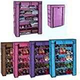 ProBache - Armoire étagère Chaussures Rangement Violet PM 90x60x30