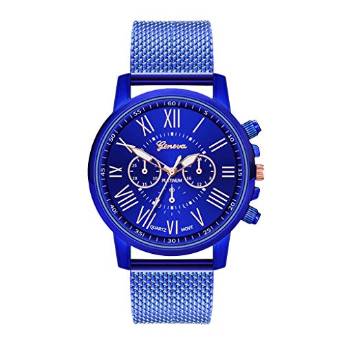 Orcbee  _Luxury Watches Quartz Watch Stainless Steel Dial Casual Bracele Watch (Blue)