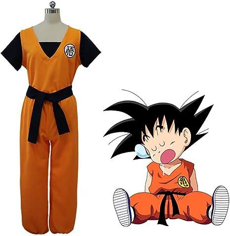 ULLAA Anime Dragon Ball Son Goku Cosplay El Hombre Naranja Manga ...