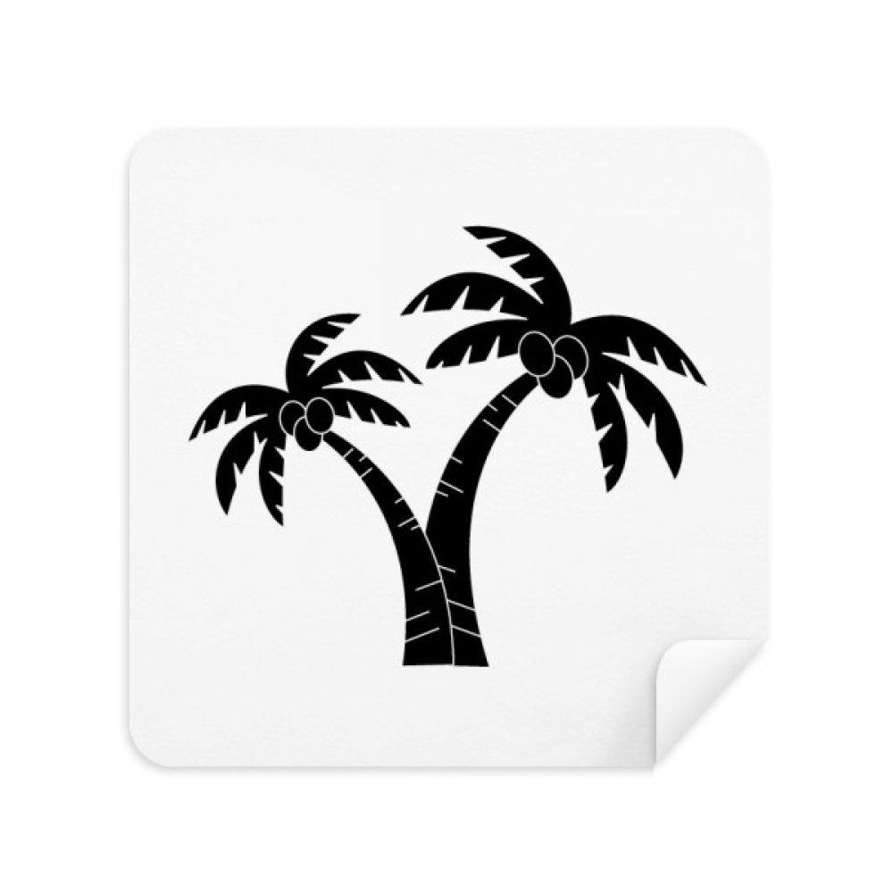 Coconut tree plantビーチシルエットメガネクリーニングクロス電話画面クリーナースエードファブリック2pcs   B07CCM5CHN