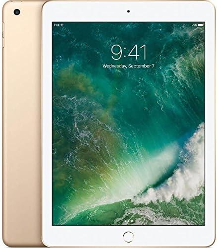 Apple iPad with WiFi, 128GB, Gold (2017 Model) (Renewed)