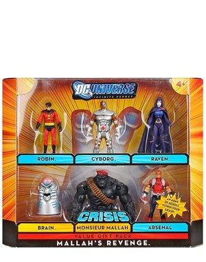 DC Universe Infinite Heroes Crisis Exclusive Action Figure 6-Pack Mallah's Revenge (Robin, Cyborg, Raven, Brain. Arsenal and Monsieur Mallah)