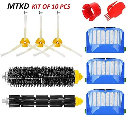 MTKD® Kit Cepillos Repuestos para iRobot Roomba Serie 600 - Kit de ...