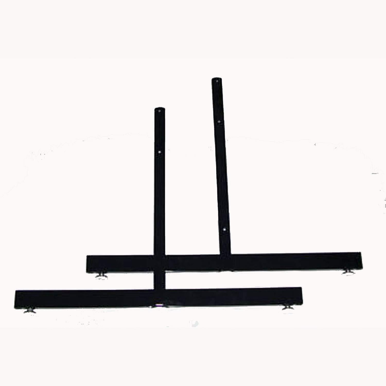 Lot Of 6 Sets Of 2 Grid Gridwall Slatgrid Panel Legs T Base Stand Black New
