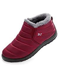 Cattle Shop Winter Women Slip-Proof Waterproof Snow Boots Outdoor Anti-Slip Snow Boots Warm Shoe