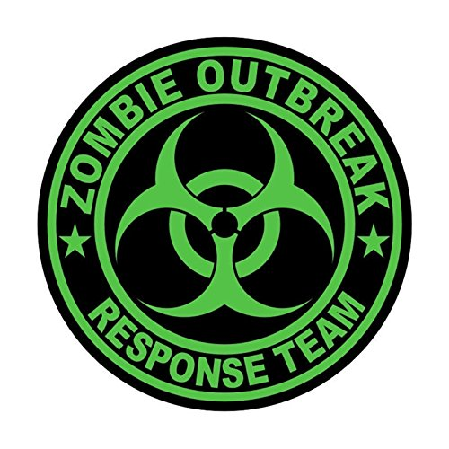 1 Pc Reasonable Unique Zombie Outbreak Response Team Car Sticker Signs Weatherproof Window Label Hard Hat Laptop Decal Patches Wall Art Funny Decor Vinyl Stickers Decals Size 2