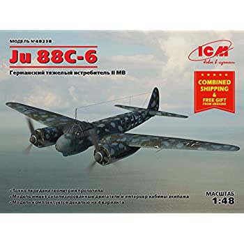 Amazon.com: ICM Modelos (ucrania) ICM 48238 JU 88 – 6, WWII ...