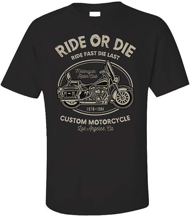 Motorcycle Rider Club - LA California Custom Motorcycle - Unisex T-Shirt Black