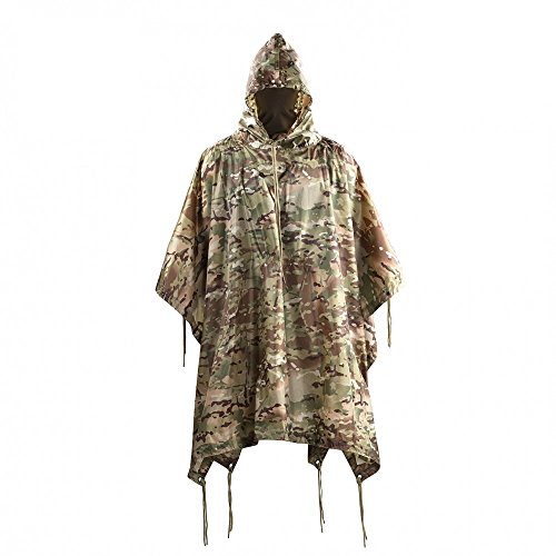 M-Tac Military Ripstop Waterproof Poncho Rain Cover (Camo) ()