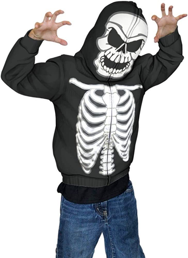 GLOW IN THE DARK Shes My Boo Skeleton Finger Funny Halloween Hoodie Pullover