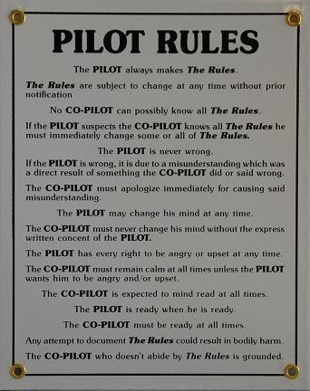 Aero Glider (Pilot Rules - Metal Sign)