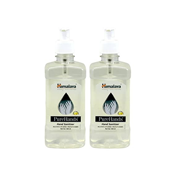 Himalaya Pure Hands Hand Sanitizer - 500 ml (Pack of 2) Hand Sanitizers at amazon
