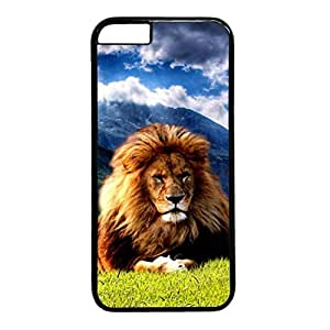 Armener Black Sides Hard Shell Skin Protector Cover for iPhone 6 Plus With Muscular Lion