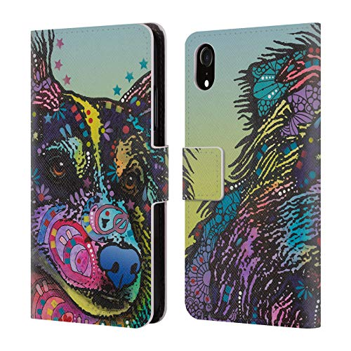 (Official Dean Russo Libby Dogs 4 Leather Book Wallet Case Cover for iPhone XR)