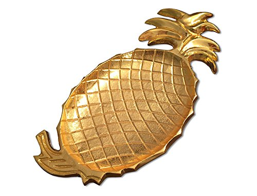 Brass Pineapple Serving Fruit Tray, Handmade, Gold Color, 100% Brass, 8