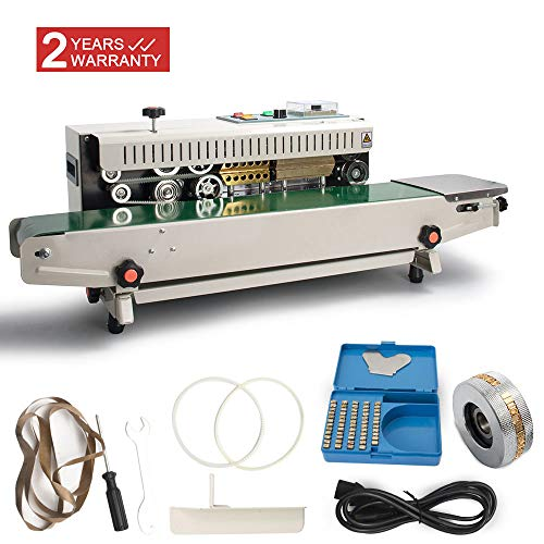 DPL Automatic Continuous Sealing Machine Food Sealer Horizontal Auto Impulse Sealer Machine Plastic Sealer Food Grade Packing