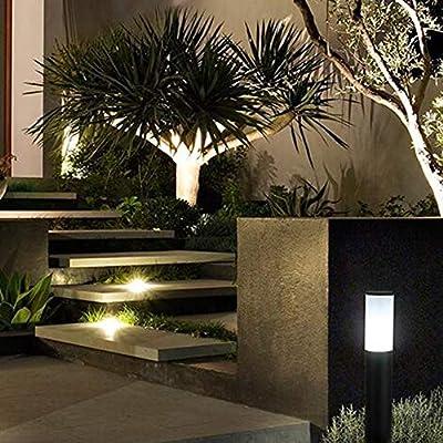 YAYADU Farolas Jardin Exterior Forma Redonda LED Negro Jardín ...