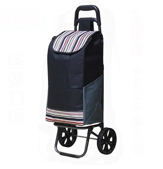 woyao13deng Carritos de la Compra - Carro de Equipaje Shopper de 2 Ruedas de Capacidad Liviana, fácil de Usar y excelente para la Movilidad, ...