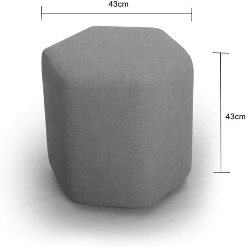 QI-shanping Fußbank Fußbank Stuhl, modern minimalistischer Stoff Sofa hexagonal Stuhl Kreative Hocker Schuhbank Sofa Hocker (Color : D) G