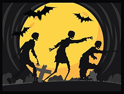 Halloween Decoration Front Door Welcome Mat - Dead Walking - 24 x 18 Inch (Welcome To Halloween)