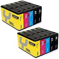 CMTOP 2Set+2Black Remanufactured 786 786XL Ink Cartridges High Yield, (4 Black 2 Cyan 2 Magenta 2 Yellow) for WorkForce Pro WF-5110 WF-5190 WF-5690 WF-4640 WF-4630 WF-5620 Printer