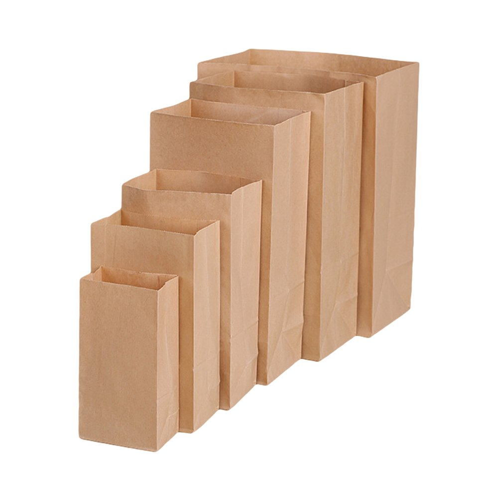 50pcs/lot Brown Kraft Paper Lunch Bags Snack Bread Bags, 9.44 x 5.11 x 3.14 Tong Yue