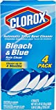 Blue Bathroom Clorox Automatic Toilet Bowl Cleaner, Bleach and Blue, Rain Clean Scent, 2.47 Ounce, 4 Count