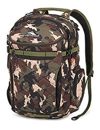 High Sierra Broghan Lifestyle Backpack, Whamo Camo, Black, Moss, International Carry-On