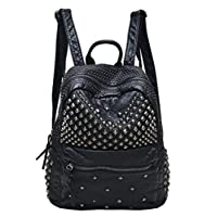 Sannea Womens Studded Leather Backpack Casual Pack Fashion School Bags for Girls