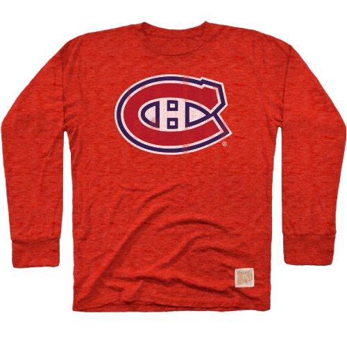388da3ad0 Amazon.com   Original Retro Brand NHL Men s Long Sleeve Tri-Blend Tee    Sports   Outdoors