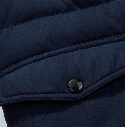 Men Warm amp;W Fur Dark Winter Jackets Hooded Blue M Coats For Lined amp;S Men's Faux Outwear 0Uq4xB1O