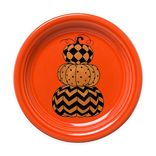 Fiesta Halloween Geo Pumpkins Appetizer Plate in Orange ()