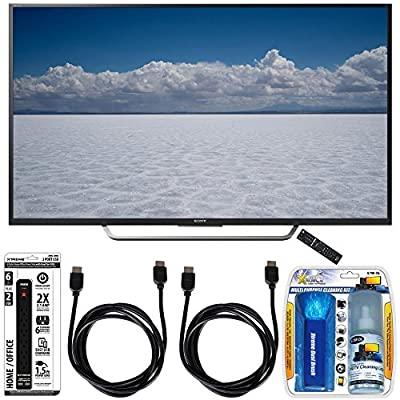 """Sony XBR-49X700D - 49"""" Class 4K Ultra HD TV with Essential Accessory Bundle includes TV, Screen Cleaning Kit, 6 Outlet Power Strip with Dual USB Ports and 2 HDMI Cables"""
