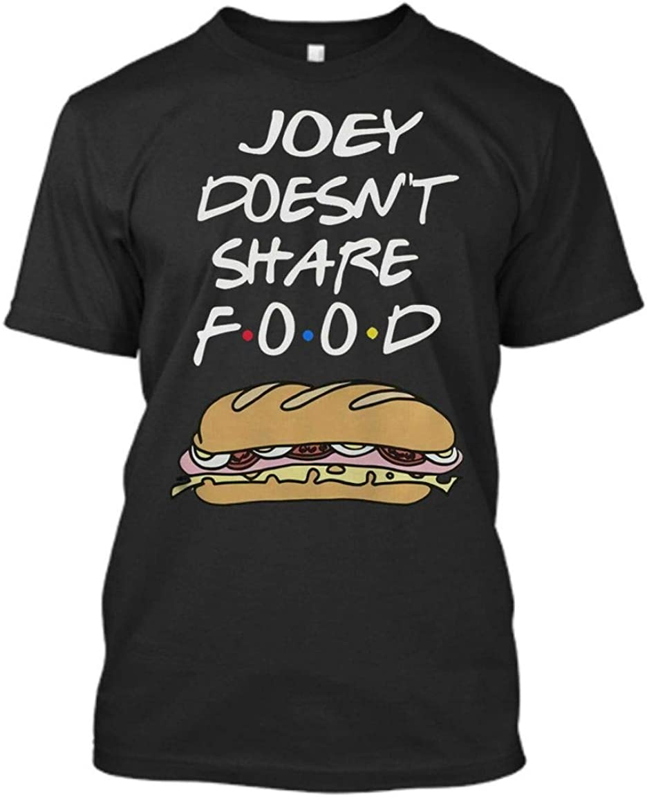 Joey Doesn t Share Food Friends tv Show Funny hot Dog Pattern Joey Doesn t Share Food Friends tv Show Shirt Black