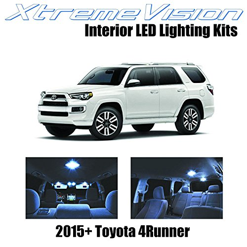 (XtremeVision Interior LED for Toyota 4Runner 2015+ (13 Pieces) Cool White Interior LED Kit + Installation Tool)