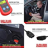 Turn Off Check Engine Light Read VIN Info Autel MaxiScan MS300 OBD2 Scanner Car Engine Fault Code Reader Read//Erase Fault Codes I//M Readiness