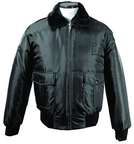 First Class 100% Nylon Oxford Watch-Guard Bomber Jacket (Black)-3XL