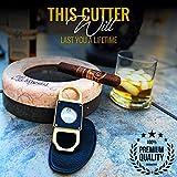 LP Cigar Cutter, Elegant Stainless Steel