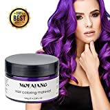 Temporary Purple Hair Wax Natural Ash Matte Hair Professional Lacquers Gel for Party Cosplay (Purple)