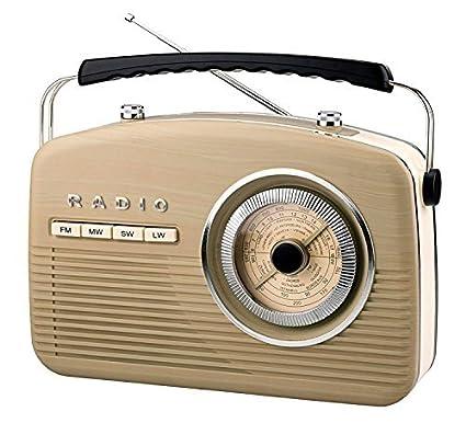 90cf6413ae99 ANTIQUE DESIGN RETRO RADIO WORLD RECEIVER CASE RADIO CLASSIC KITCHEN RADIO  Beige  Amazon.co.uk  Electronics