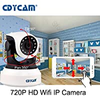CDYCAM C7824WIP Wireless 720P IP camera Wifi Security Home Monitoring CCTV Surveillance Network Webcam Pan/Tilt Video Surveillance 2 way Audio SD Card Slot Night Vision